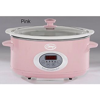 Pink slow cooker. Too bad the website stopped selling it in this color. smh