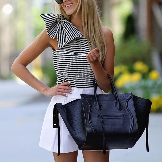 black and white classics. so chic. who knew you could dress up shorts so much?!