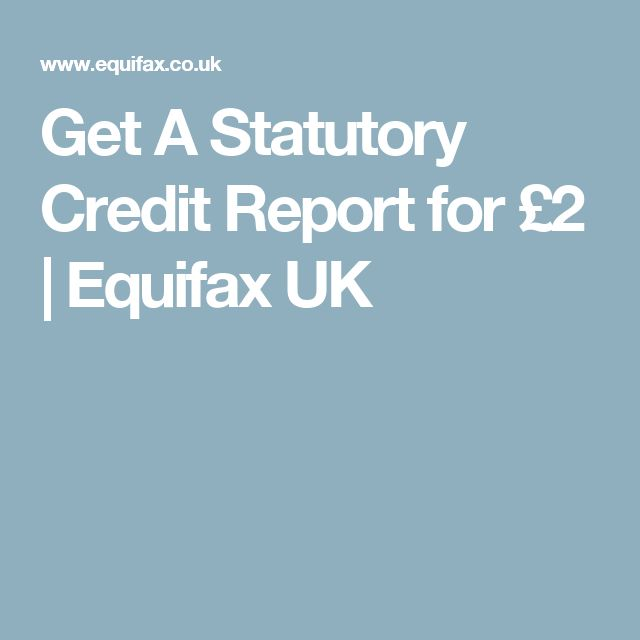 Get A Statutory Credit Report for £2 | Equifax UK