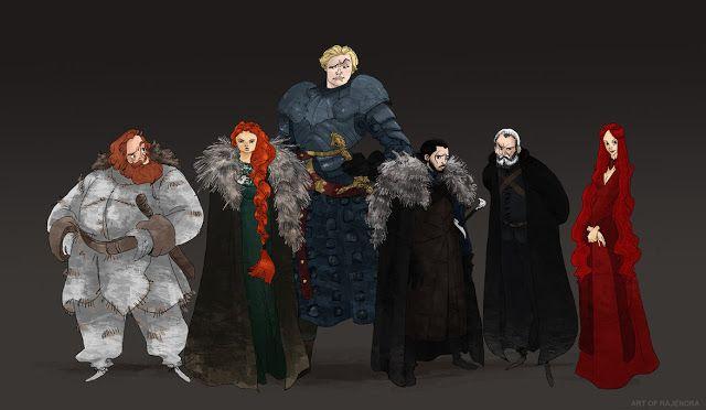 Game of Thrones (GOT) example #281: El Espacio Geek: Los personajes de Game of Thrones en caricatura