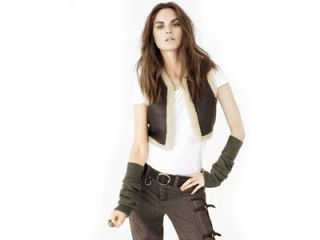 The top model brings a sense of humor to the season's surplus of rich army greens and contemporary cargo-wear.