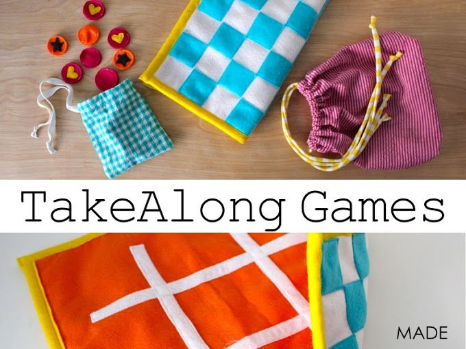 Sewing TUTORIAL: TakeAlong Games | MADE   Would be great for Operation Christmas Child Boxes!