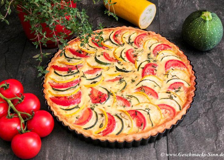 Zucchini-Tomaten-Quiche  http://www.geschmacks-sinn.de/?p=3097