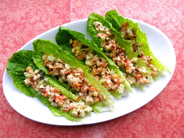 lettuce wrap pois chiches- audrey sckoropad