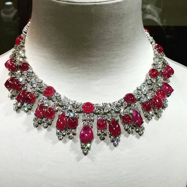 Fabulous ruby and diamond necklace by Harry Winston @jewelryblogram