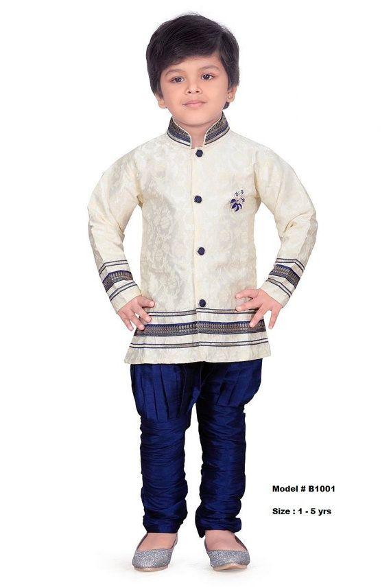 Kids Boys Ethnic Indian Pakistani Sherwani by Varshinicollections