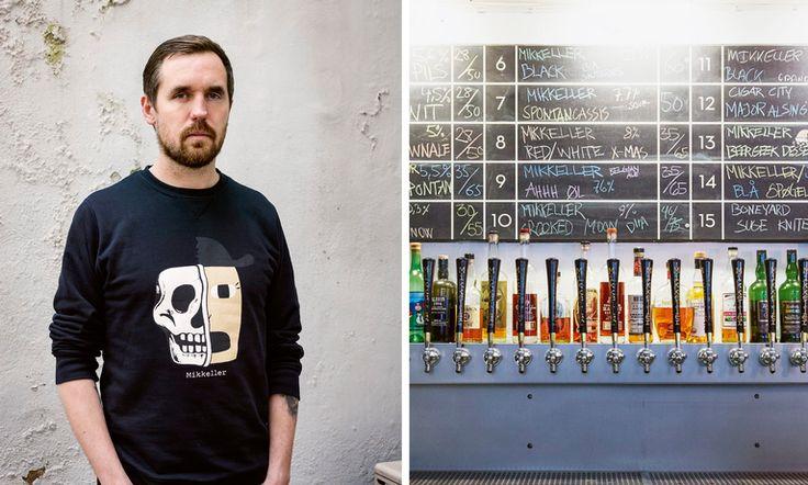 Mikkel Borg Bjergsø og Mikkeller-baren i Viktoriagade i København kan skilte med 20 ølsorter på tappekran. Smak har smakt.
