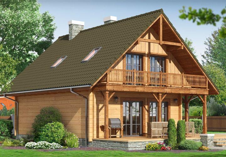 dom z drewna - świdnica  dws