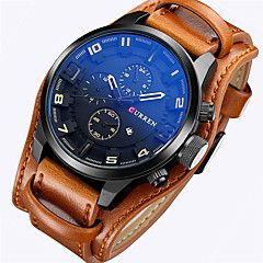 CURREN Men's Wrist watch Military Watch Dress Watch Fashion Watch Sport Watch Quartz Japanese Quartz Calendar / date / day Leather Band