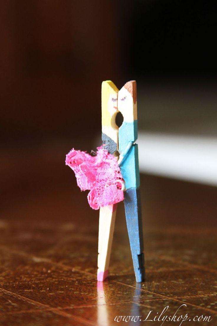 Прищепка на открытке, анимация колокол