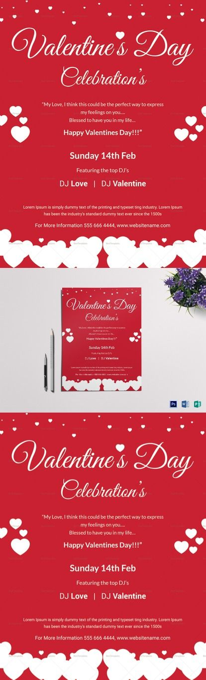 Valentine Day Celebrations Flyer Template