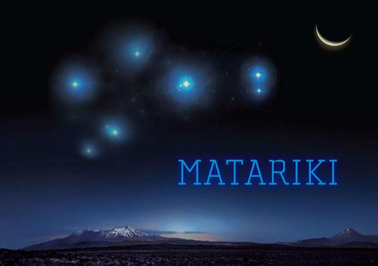 Matariki is the Aotearoa Pacific New Year. It takes its name from the seven star constellation which reappears over the horizon in late May. In Western astronomy this constellation is called The Pleiades.