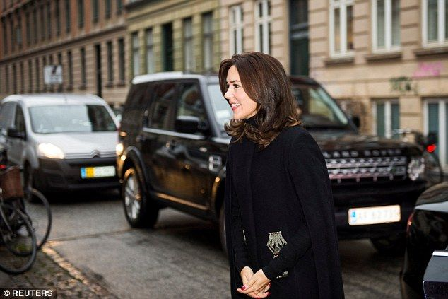The perfectly-coiffed mother-of-four brightened up a gloomy day in the Danish capital