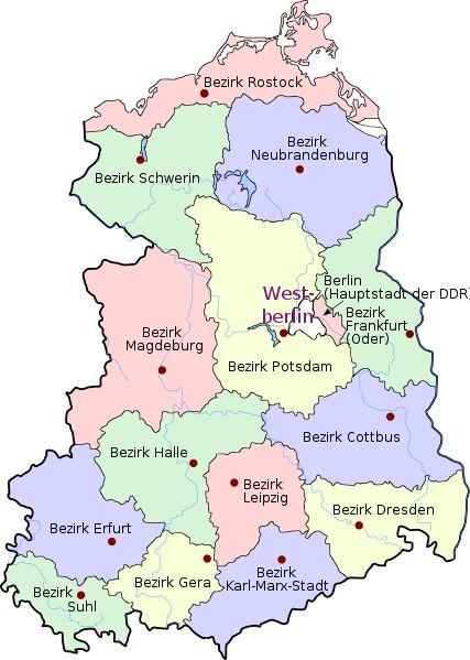 Karte DDR