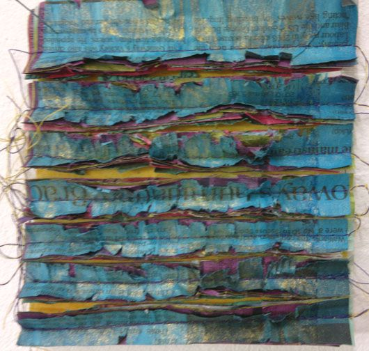 Kim's Hot Textiles: Extreme Surfaces for Stitch - newspaper!