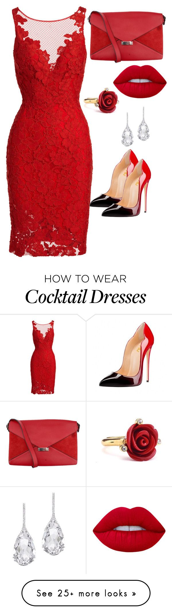 """RED LOVE"" by angela-davis-monroe on Polyvore featuring ML Monique Lhuillier, CÉLINE, Lime Crime, Oscar de la Renta, Plukka, rockerchic and rockerstyle"