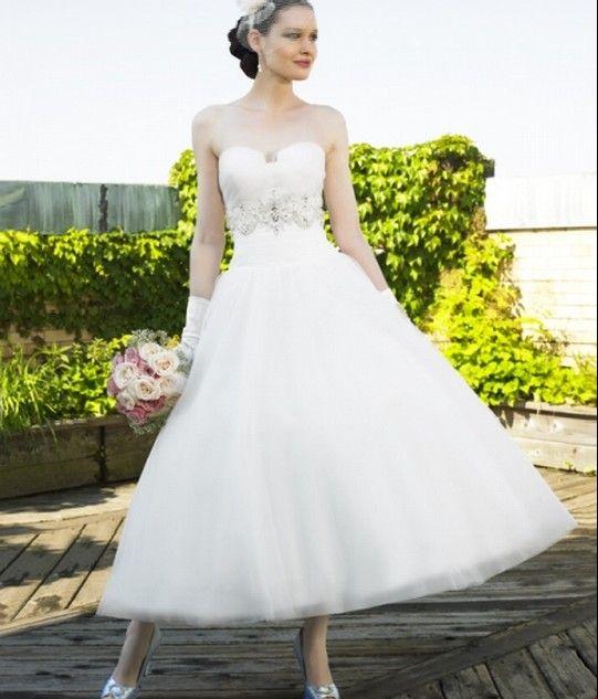 Designer Tea Length Wedding Dresses - Ocodea.com