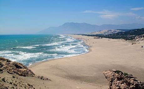 Patara Beach, Patara - This fabulous beach is one of the largest and most beautiful beaches near the ancient Lycian City of Patara and boasts soft sand and shallow waters.