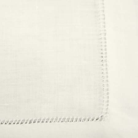 Hemstitched Ivory - La Tavola Fine Linen- possible runner option. Its kind of like that napkin but a nicer texture and its a runner.