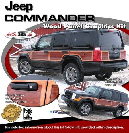 Vehicle Specific Graphic kits for Jeep Commander that are Precut and ready to install.