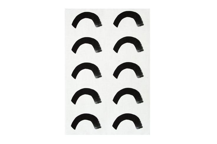 Mosey Me White Curve Tea Towel
