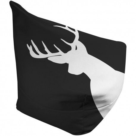 Stylish Black and White Deer Bean Bag - perfect accessory for kids rooms that will take them from toddlers to teenagers.