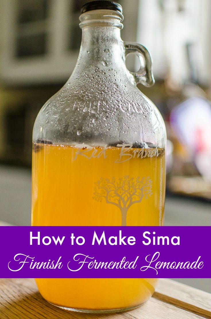 How to make sima, Finnish fermented lemonade. Sima is a easy and healthy probiotic spring drink recipe from Finland. It uses ingredients you probably have in your cupboard right now! Pin this sima recipe and let me know what you think!