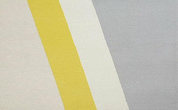 elegante gemusterte Teppiche grau gelb idee