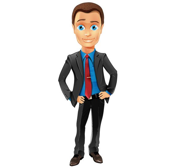 Freebie - Fashionable Business Guy Vector Character