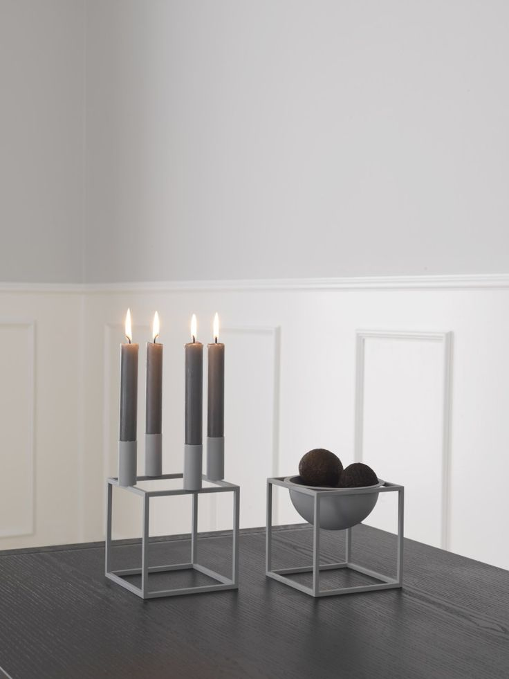 by Lassen has introduced a limited-edition cool grey version of Mogens Lassen's iconic Kubus 4 candleholder