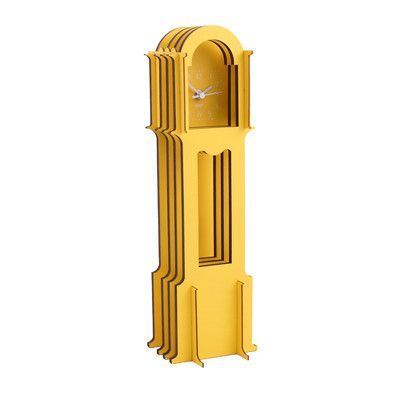 WOLF Wooden Jigsaw Mini Grandfather Clock Color: Yellow