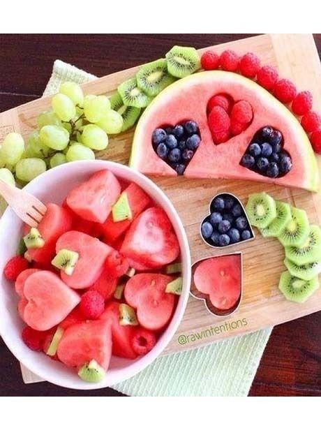 Des petits cœurs de pastèque - Food : 50 idées pour impressionner votre moitié à la Saint-Valentin - Photos Perso - Be.com