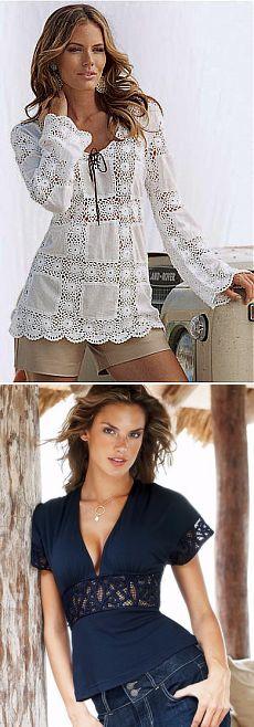 tricô com tecido
