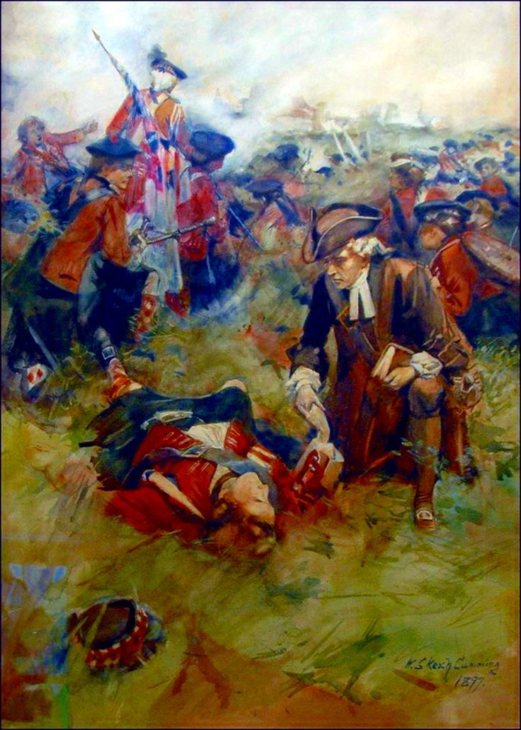 The Black Watch Chaplain at the Battle of Fontenoy, 1745 by William Skeoch Cumming