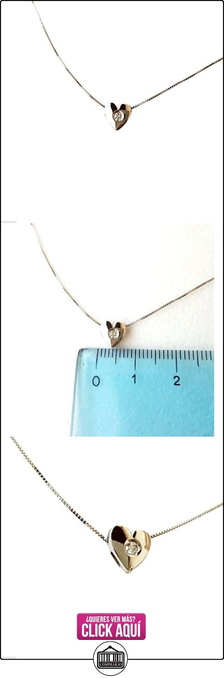 Collar oro blanco 18quilates 750/000diamante brillante corazón de 0,03Carat F-VVS  ✿ Joyas para niñas - Regalos ✿ ▬► Ver oferta: http://comprar.io/goto/B01N7VP7D6
