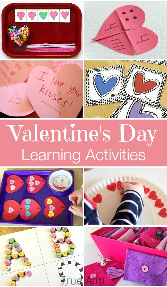10+ Valentines day learning activities for preschoolers including free printables, counting activities, and more!