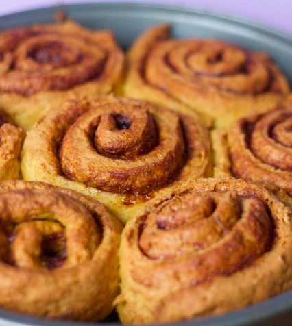 13. Pumpkin cinnamon rolls | 49 Vegan & Gluten Free Recipes For Baking In October