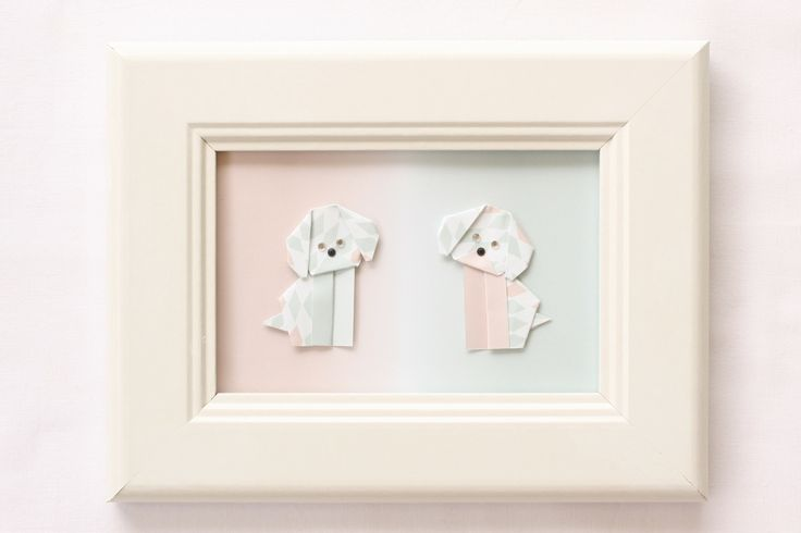 Origami Dogs - Pink & Blue — Bubba&Beyond