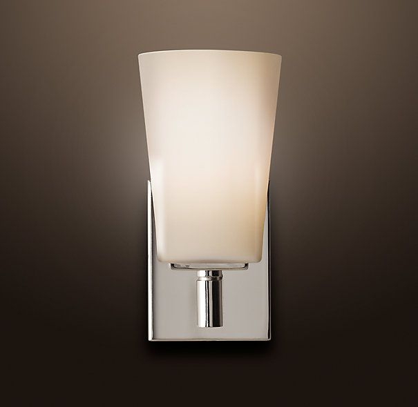 MODERN SINGLE SCONCE $99 SPECIAL $75 With Its Squared Edges And Bull Nose  Finials,