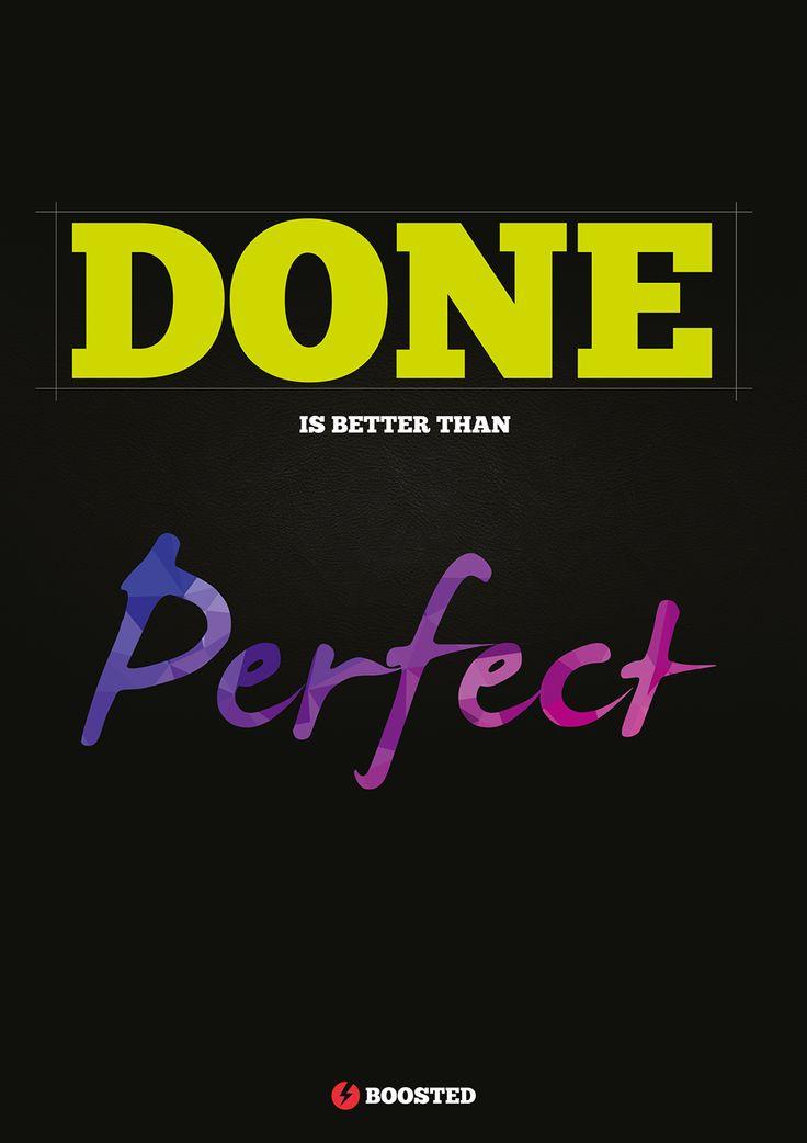 Motivační plakát Hotovo (Anglicky)