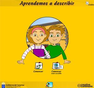 Objeto didáctico educativo del Gobierno de Canarias para trabajar la descripción de Objetos, Animales o Personas.