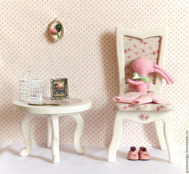 Купить Стульчик для куклы - стульчик, стульчик для куклы, стул для куклы, интерьер, кукольный дом