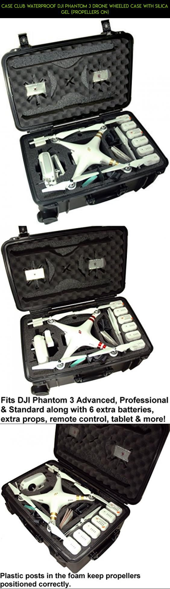Case Club Waterproof DJI Phantom 3 Drone Wheeled Case with Silica Gel (Propellers On) #fpv #kit #shopping #phantom #gadgets #camera #tech #products #dji #parts #plans #racing #technology #hard #standard #3 #drone #case