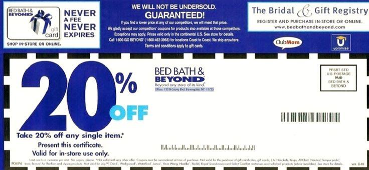 Bed Bath and Beyond printable Coupon