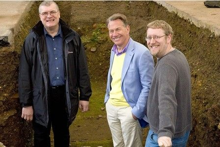 Michael Portillo  visits Richard III grave site for his  TV programme  Great British Railway Journeys