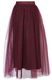 Skirt Omi - Maroon Tulle