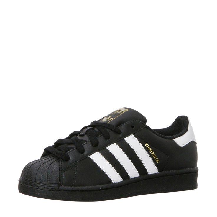 Coole Adidas originals sneakers Superstar J (Zwart/wit) Sneakers van het  merk adidas
