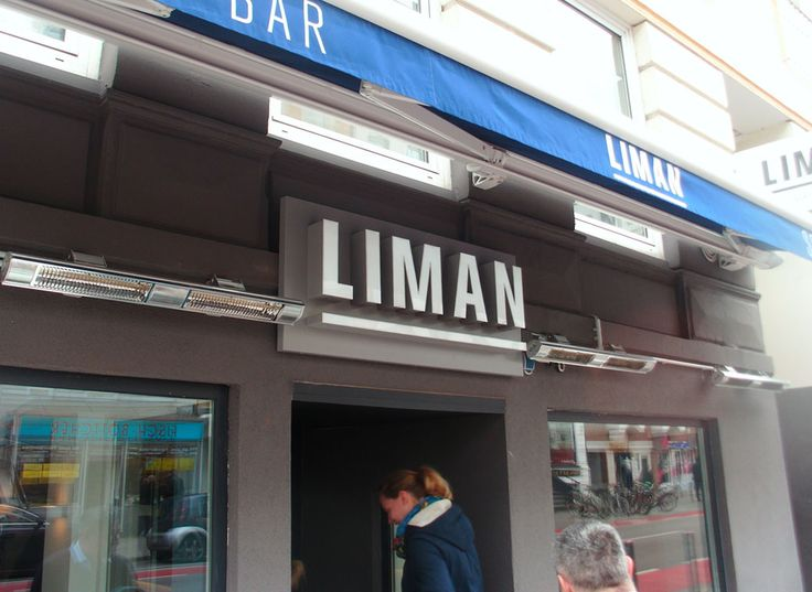 Frontleuchter am LIMAN Fischrestaurant in Hamburg Winterhude