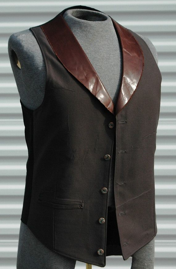 Time Traveler's Steampunk Mens  Vest  Leather by OLearStudios, $63.00 is a very upsetting fact, so I will just make one myself.