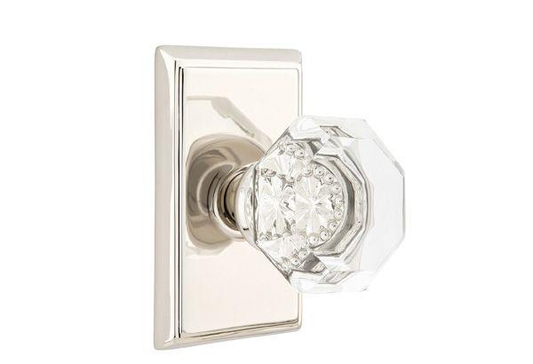 MIDDLE BEDROOM: Old Town Clear Knob   Crystal & Porcelain   Passage/Privacy Knobs   Emtek Products, Inc.